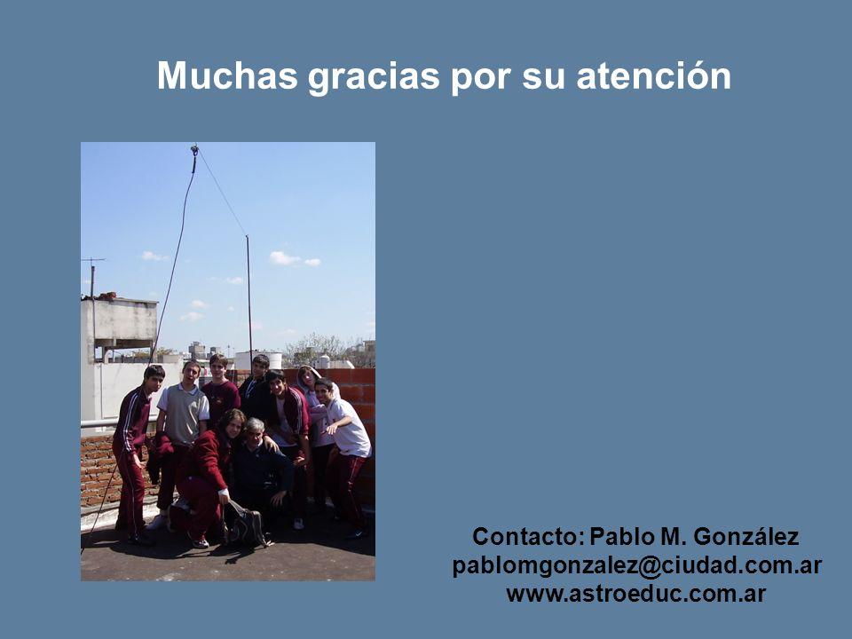 Contacto: Pablo M. González