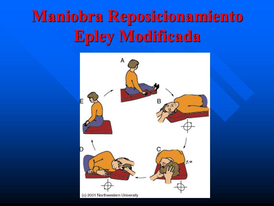 Maniobra Reposicionamiento Epley Modificada