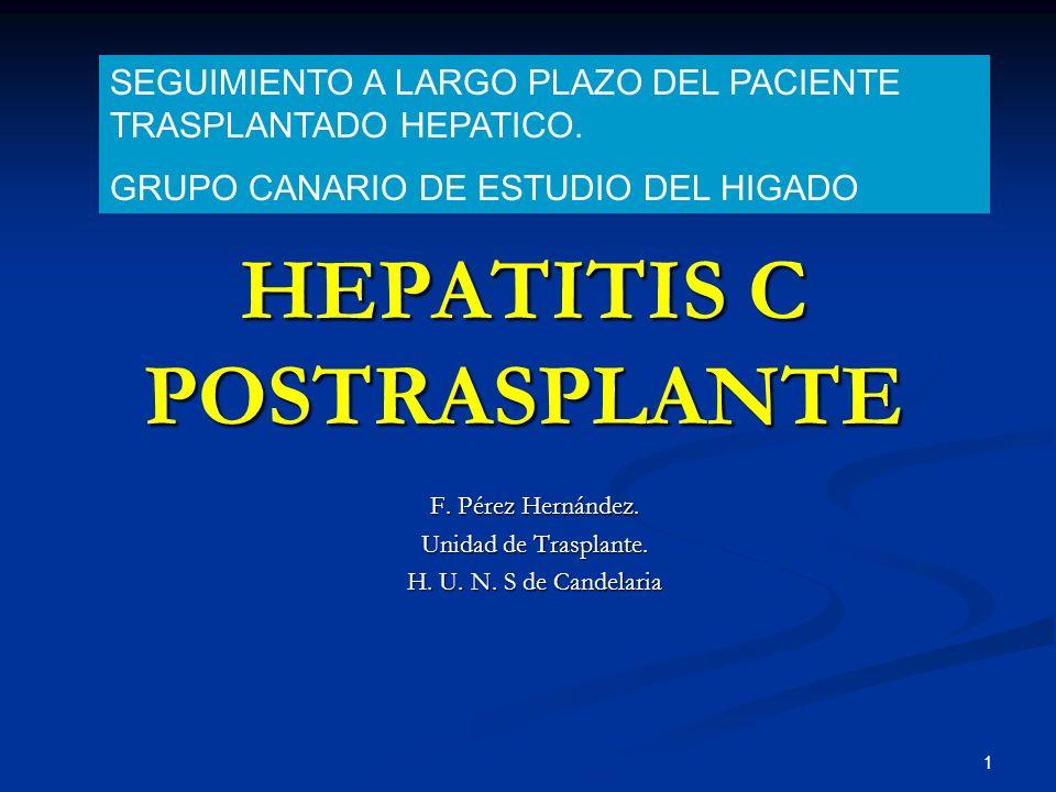 HEPATITIS C POSTRASPLANTE
