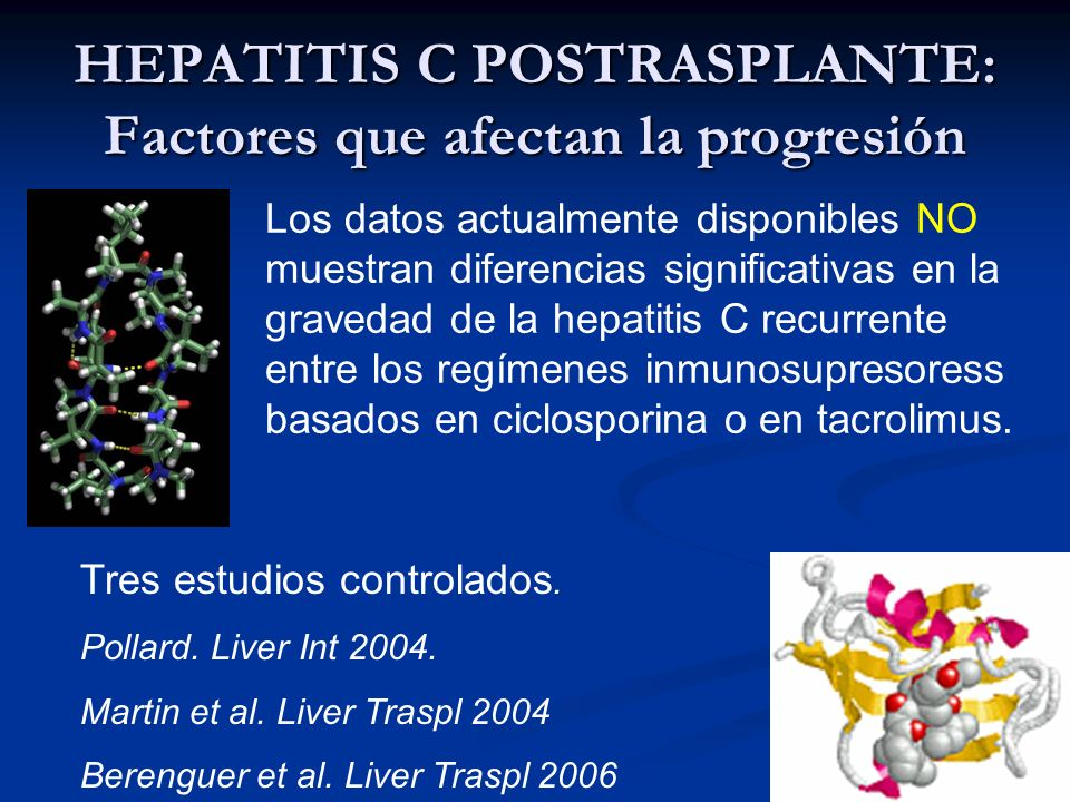 HEPATITIS C POSTRASPLANTE: Factores que afectan la progresión