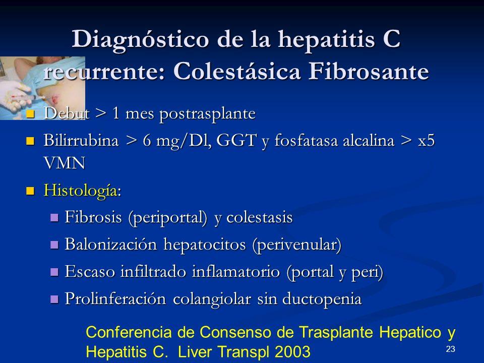 Diagnóstico de la hepatitis C recurrente: Colestásica Fibrosante