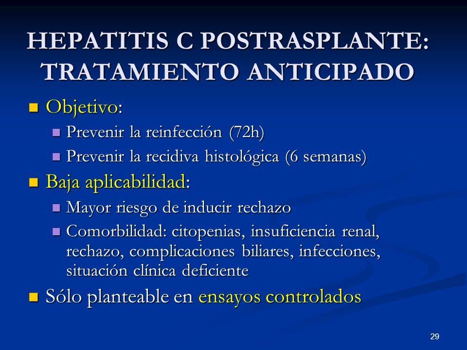 HEPATITIS C POSTRASPLANTE: TRATAMIENTO ANTICIPADO