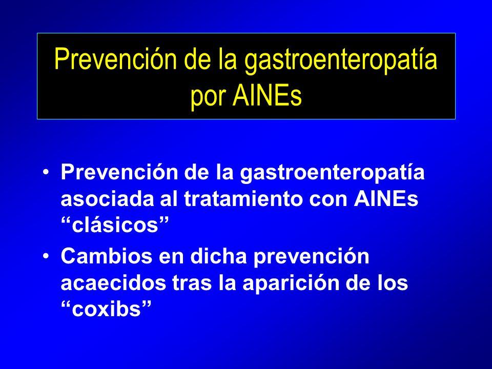 Prevención de la gastroenteropatía por AINEs