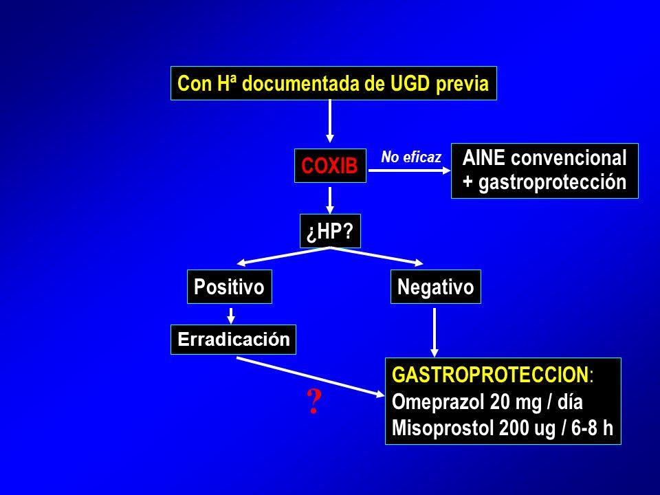 AINE convencional + gastroprotección