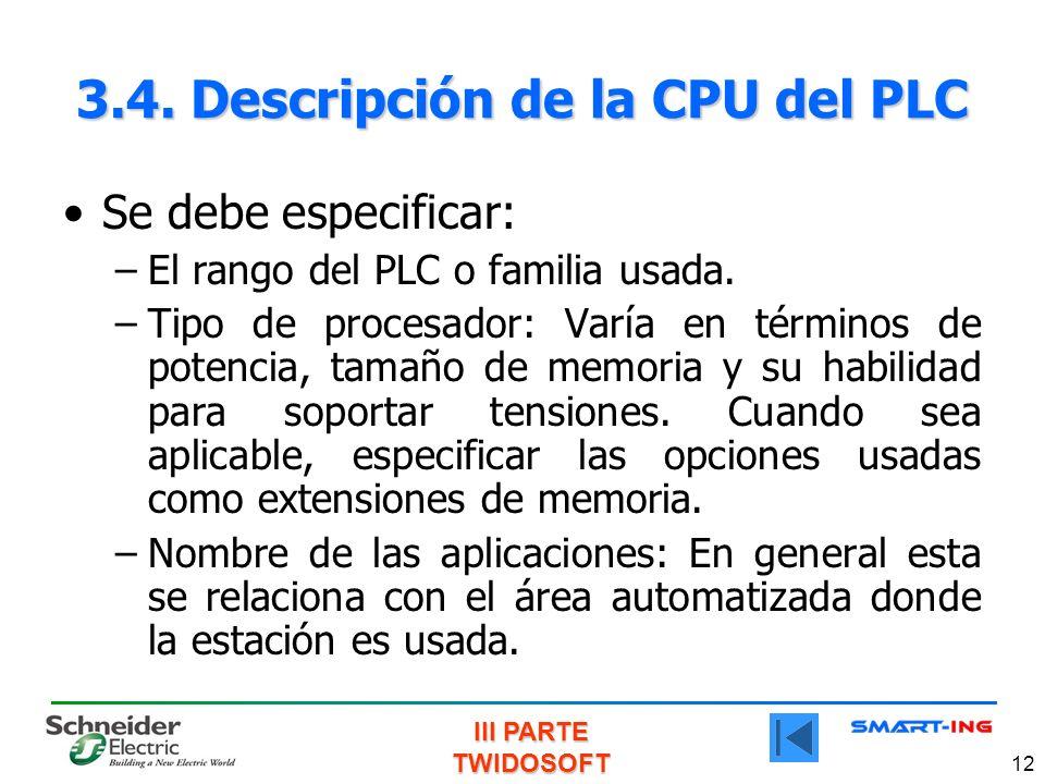 3.4. Descripción de la CPU del PLC