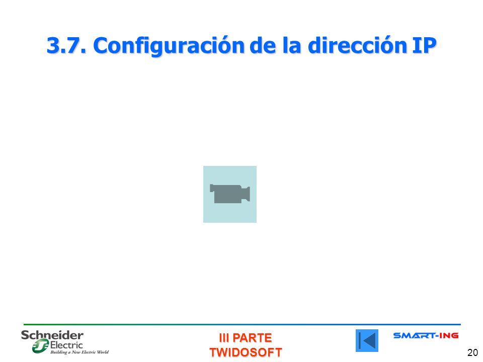 3.7. Configuración de la dirección IP