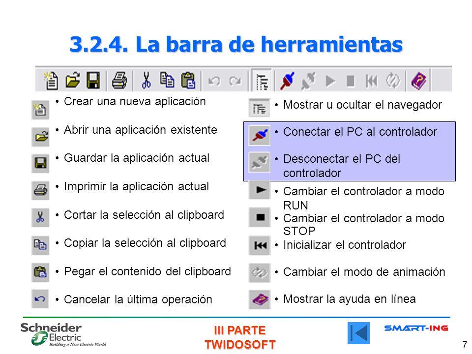 3.2.4. La barra de herramientas