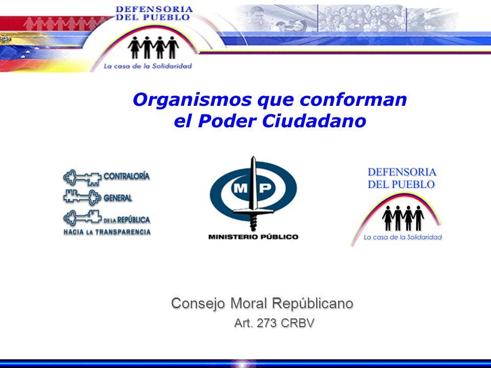 Organismos que conforman el Poder Ciudadano