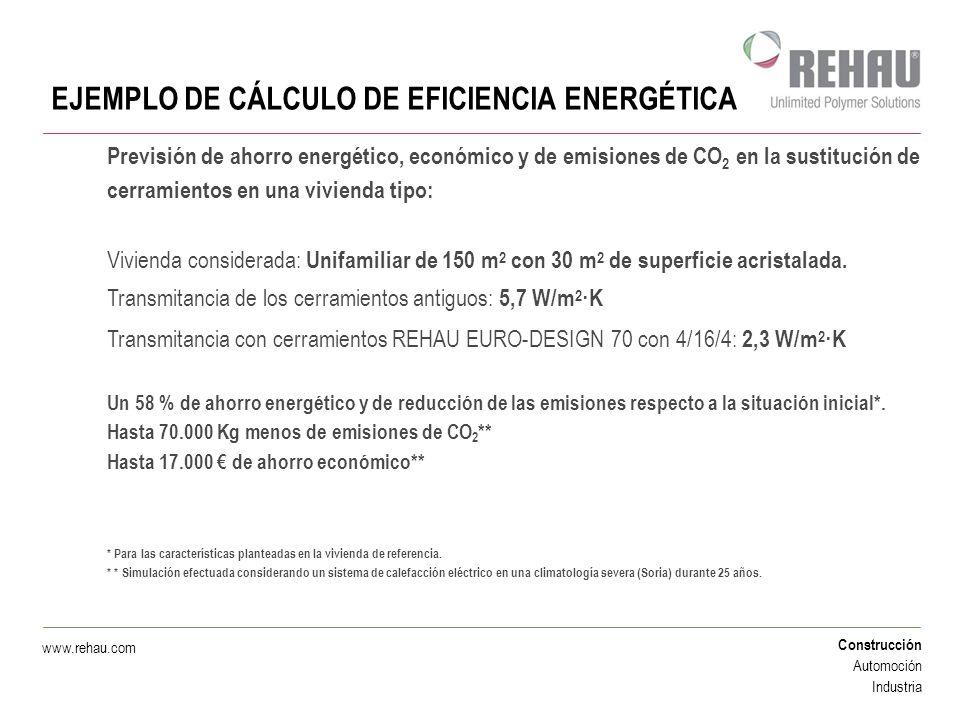 EJEMPLO DE CÁLCULO DE EFICIENCIA ENERGÉTICA