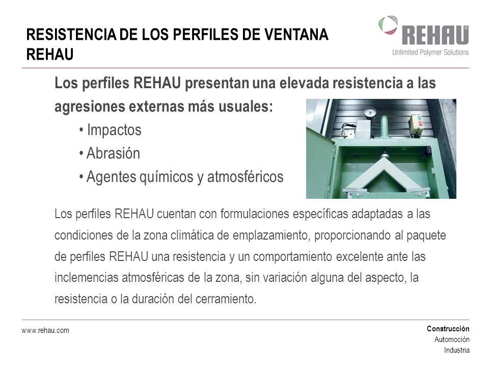 RESISTENCIA DE LOS PERFILES DE VENTANA REHAU