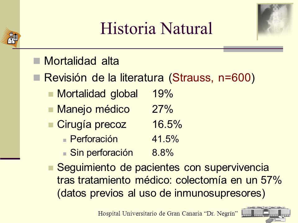 Historia Natural Mortalidad alta