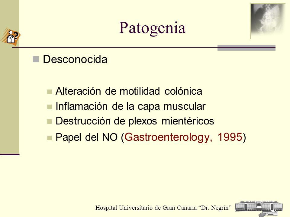 Patogenia Desconocida Alteración de motilidad colónica