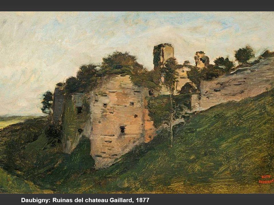 Daubigny: Ruinas del chateau Gaillard, 1877