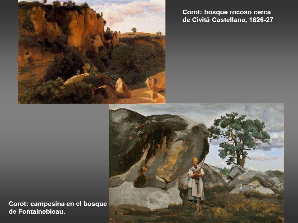 Corot: bosque rocoso cerca de Civitá Castellana, 1826-27