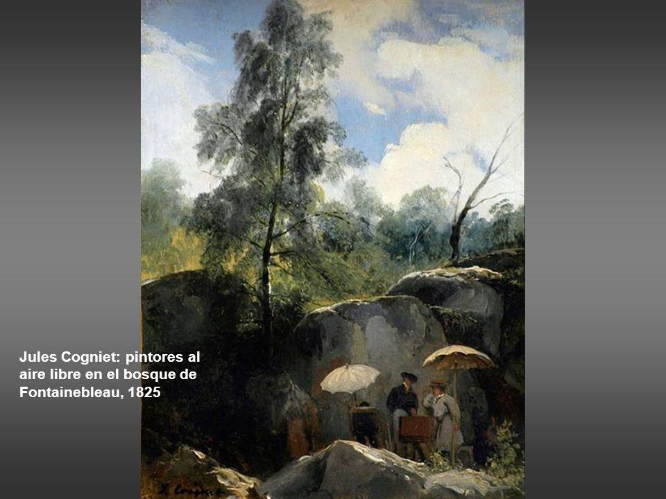 Jules Cogniet: pintores al aire libre en el bosque de Fontainebleau, 1825