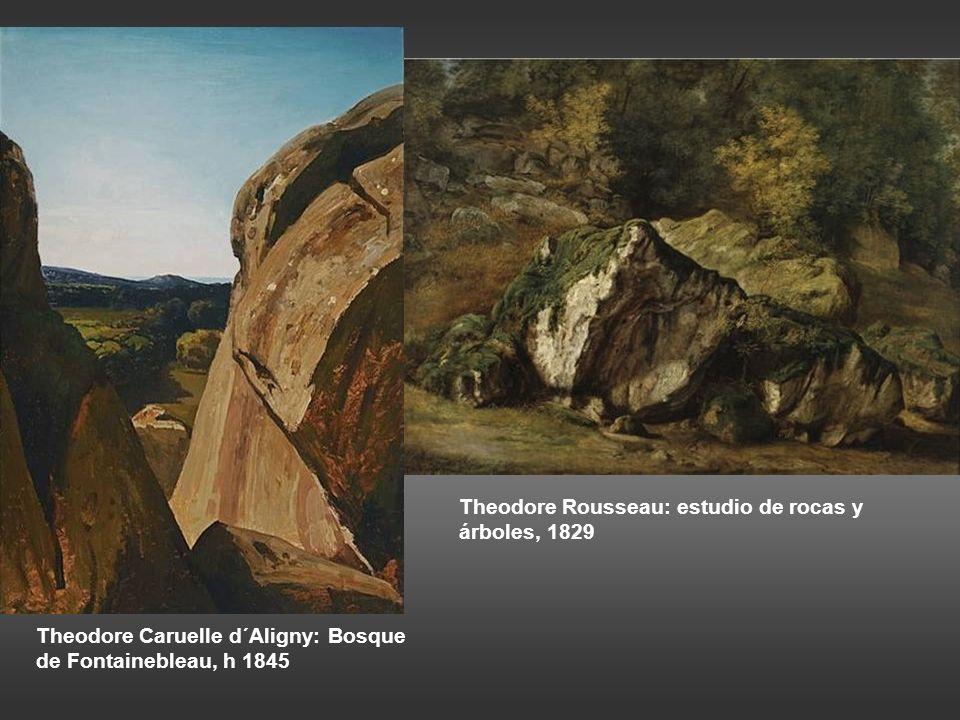 Theodore Rousseau: estudio de rocas y árboles, 1829