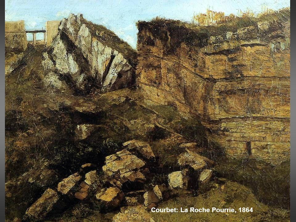 Courbet: La Roche Pourrie, 1864