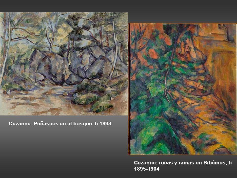 Cezanne: Peñascos en el bosque, h 1893