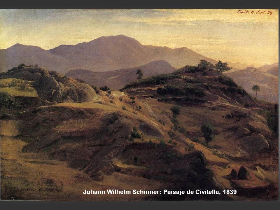 Johann Wilhelm Schirmer: Paisaje de Civitella, 1839
