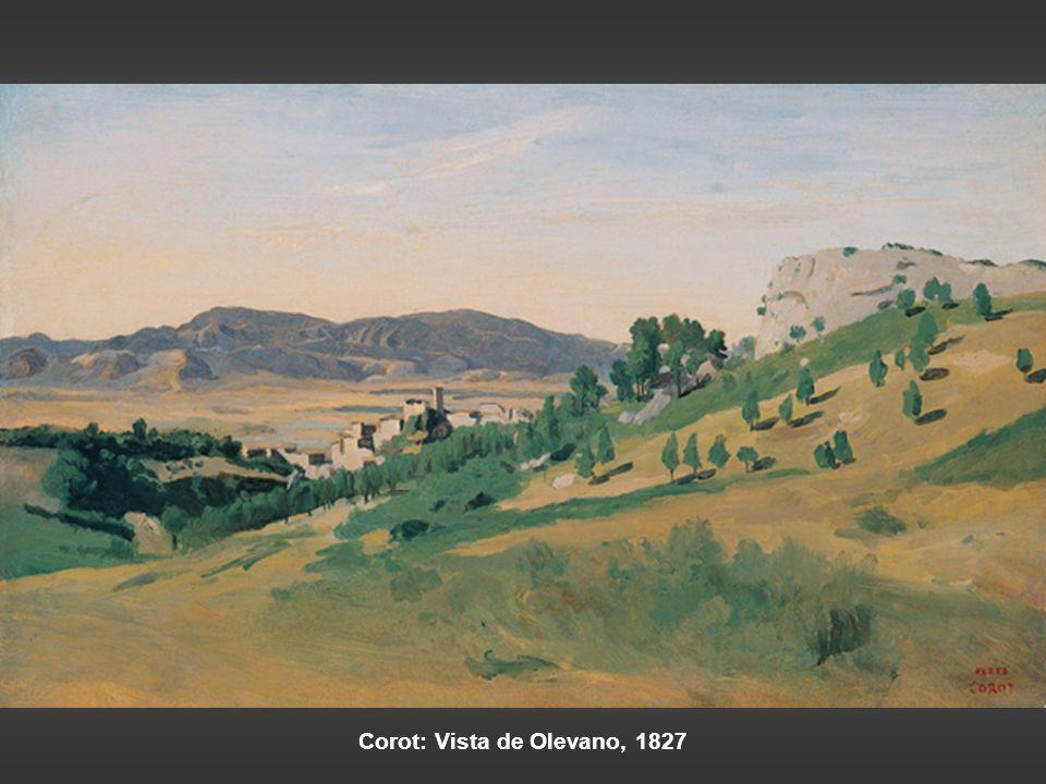 Corot: Vista de Olevano, 1827