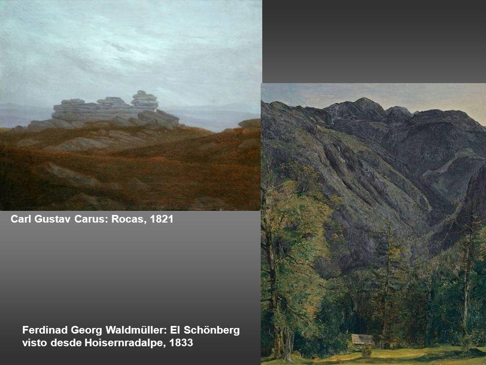 Carl Gustav Carus: Rocas, 1821