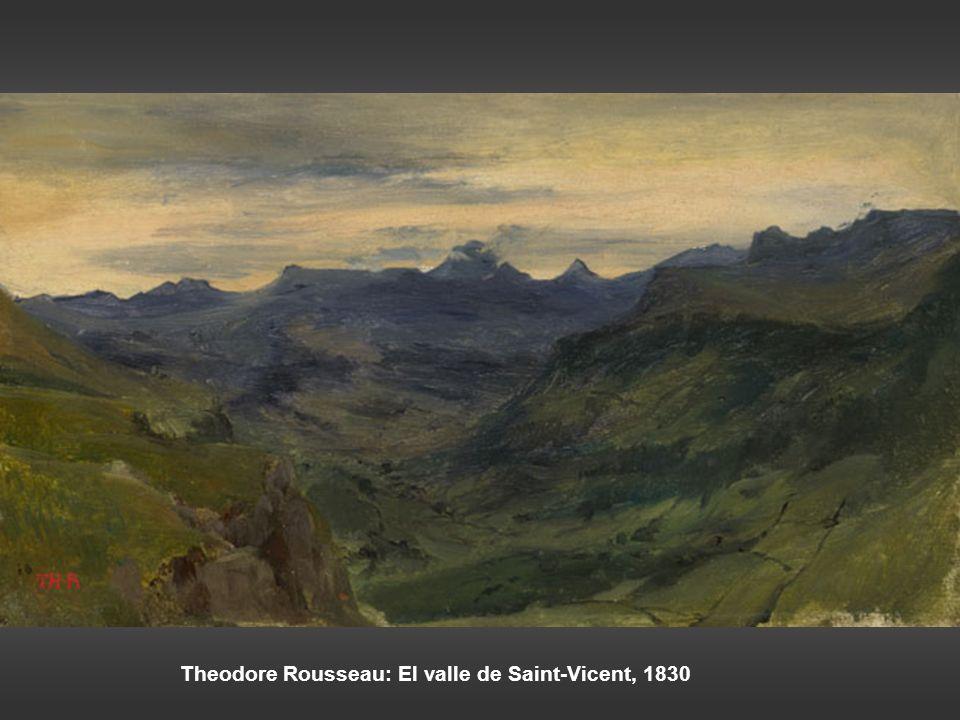 Theodore Rousseau: El valle de Saint-Vicent, 1830