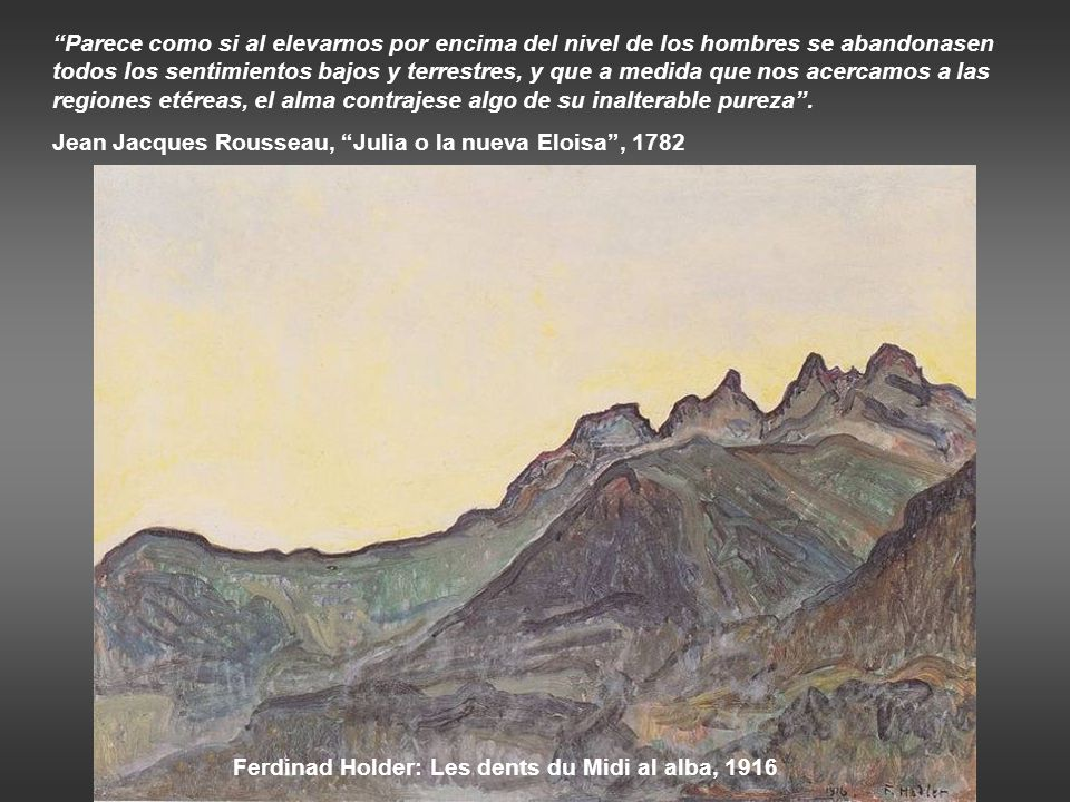 Ferdinad Holder: Les dents du Midi al alba, 1916