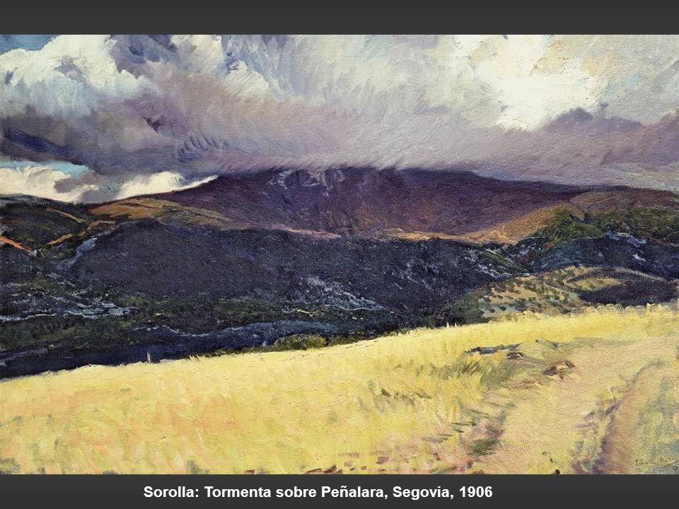 Sorolla: Tormenta sobre Peñalara, Segovia, 1906
