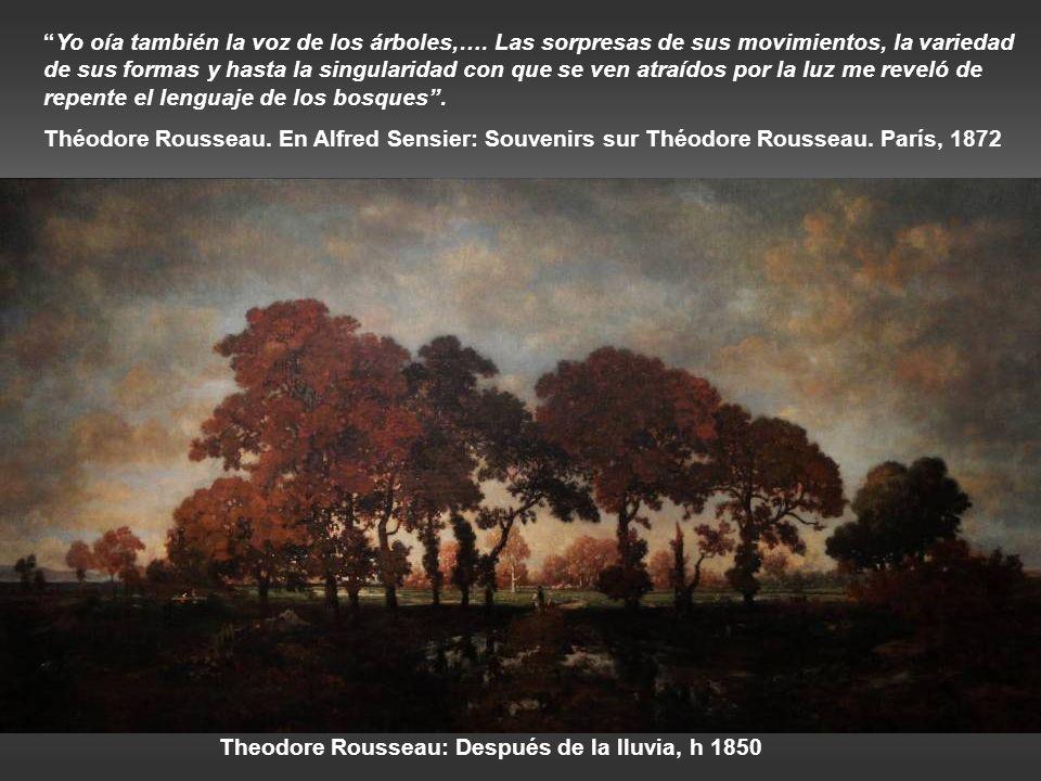 Theodore Rousseau: Después de la lluvia, h 1850