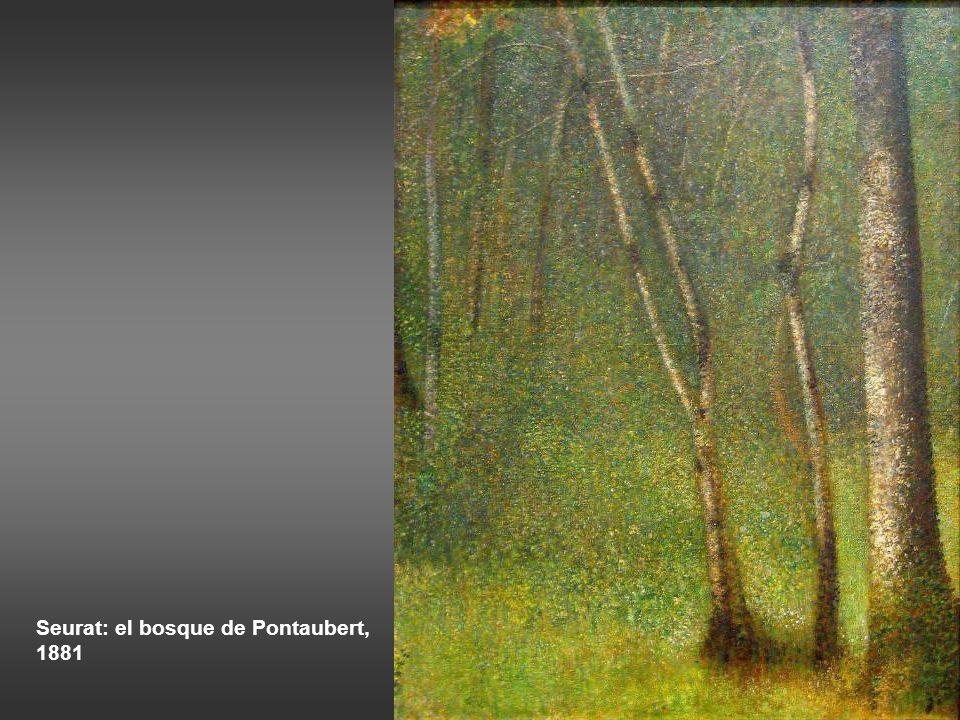 Seurat: el bosque de Pontaubert, 1881