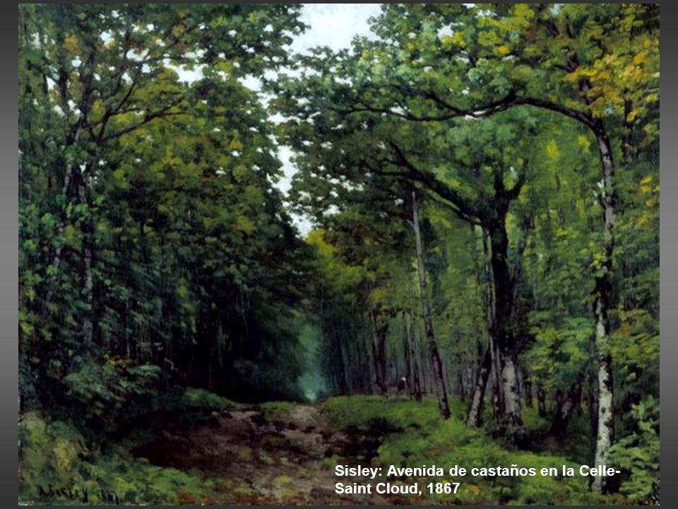 Sisley: Avenida de castaños en la Celle-Saint Cloud, 1867