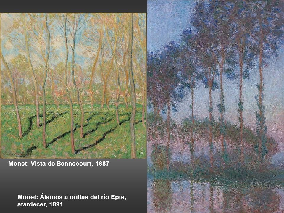 Monet: Vista de Bennecourt, 1887