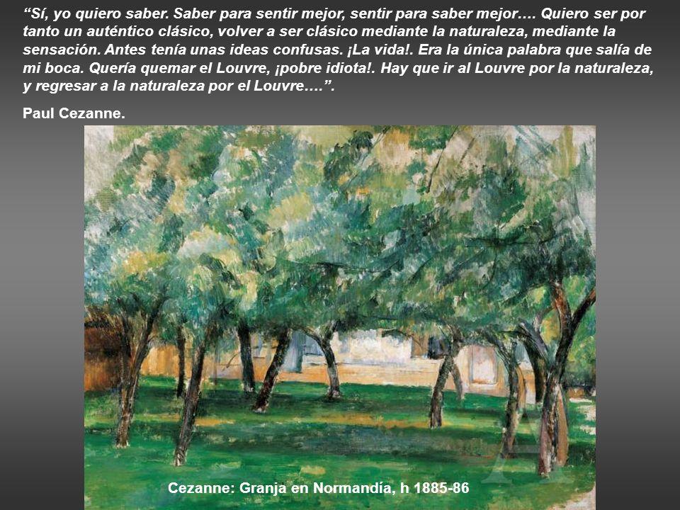 Cezanne: Granja en Normandía, h 1885-86