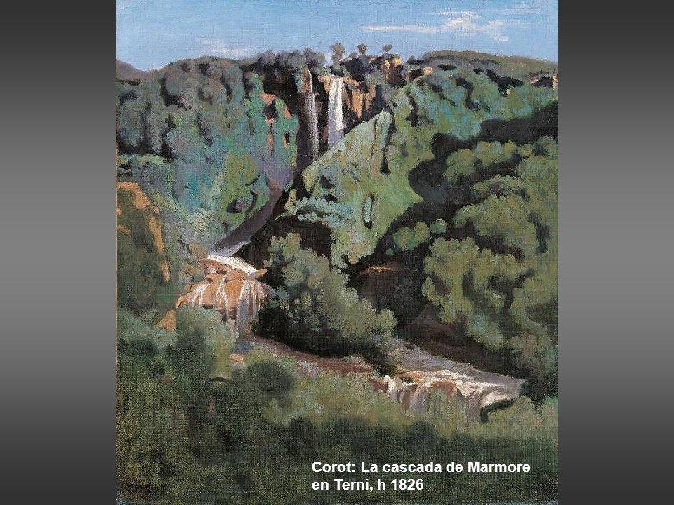 Corot: La cascada de Marmore en Terni, h 1826