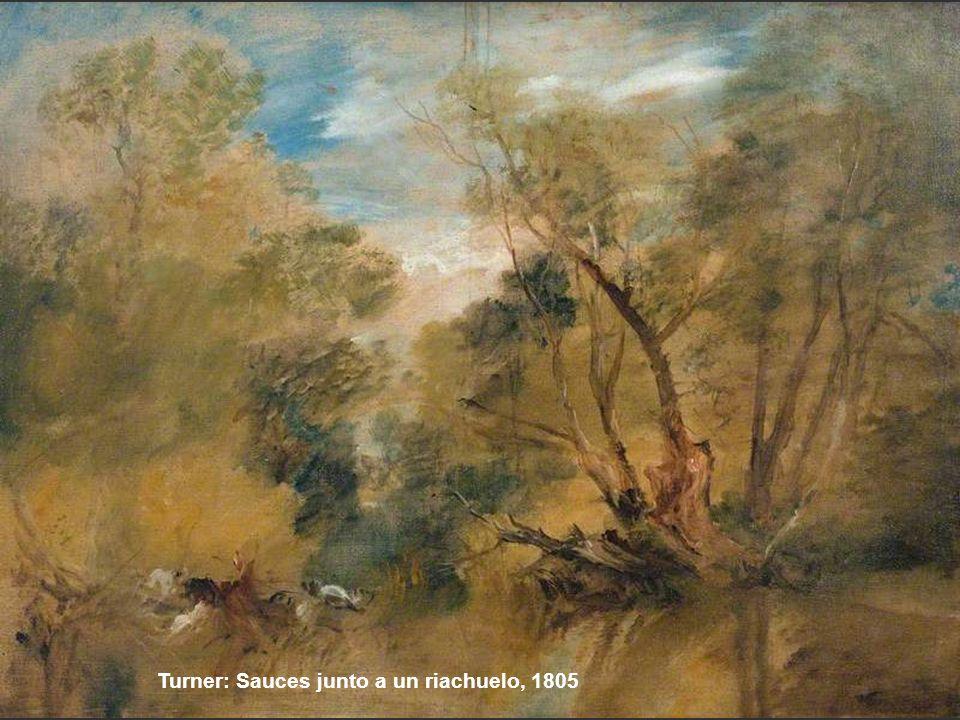 Turner: Sauces junto a un riachuelo, 1805