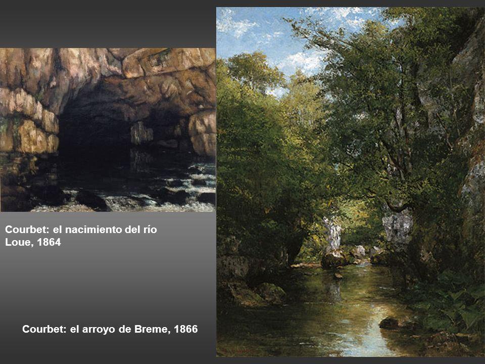 Courbet: el nacimiento del río Loue, 1864