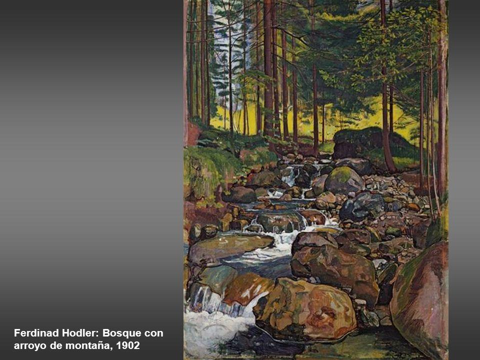 Ferdinad Hodler: Bosque con arroyo de montaña, 1902