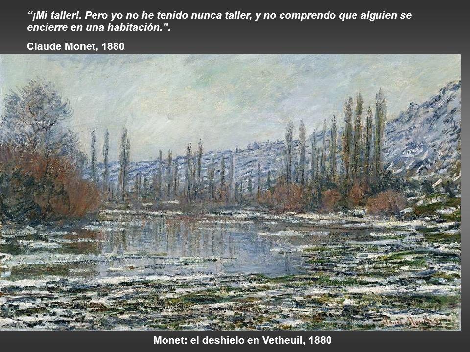 Monet: el deshielo en Vetheuil, 1880