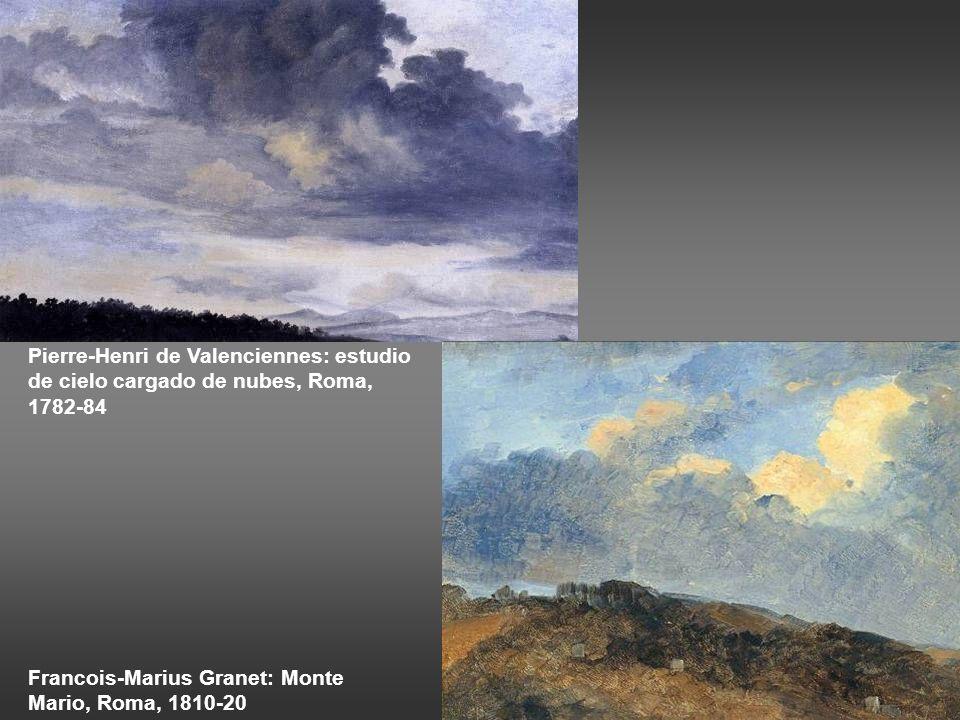 Pierre-Henri de Valenciennes: estudio de cielo cargado de nubes, Roma, 1782-84