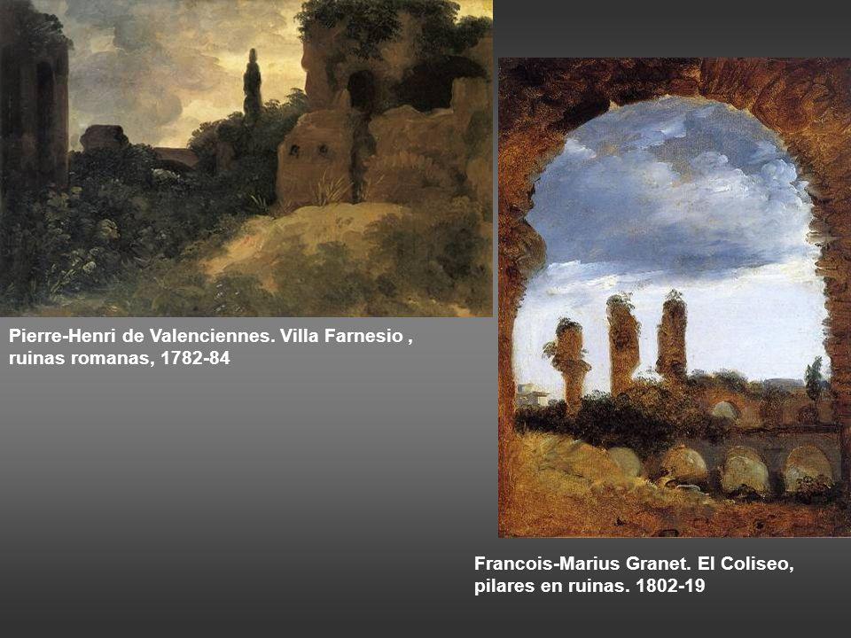 Pierre-Henri de Valenciennes. Villa Farnesio , ruinas romanas, 1782-84