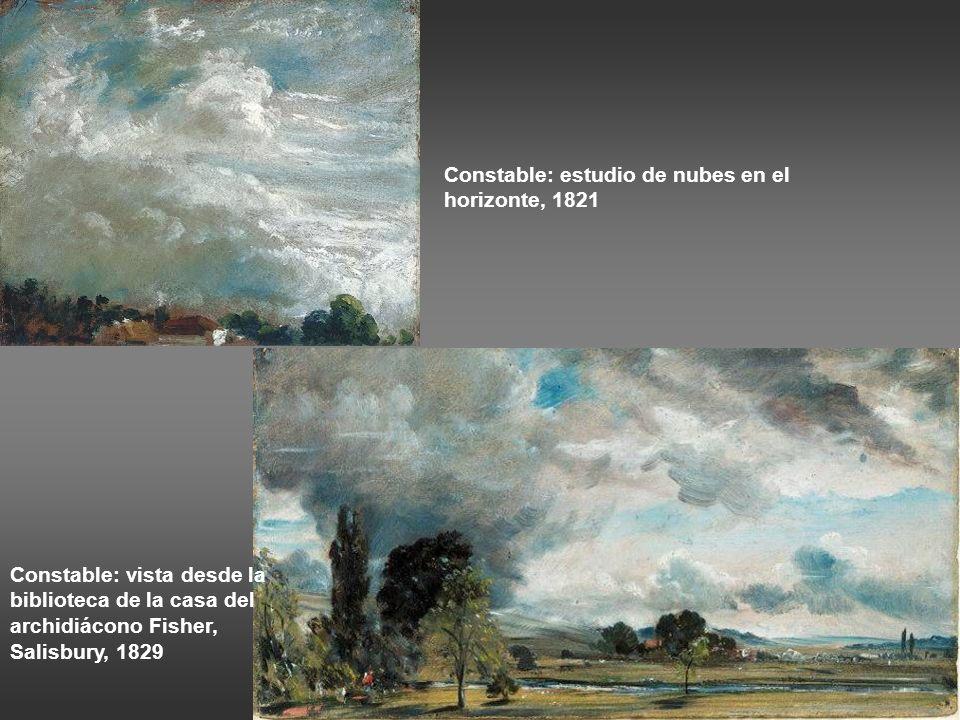Constable: estudio de nubes en el horizonte, 1821
