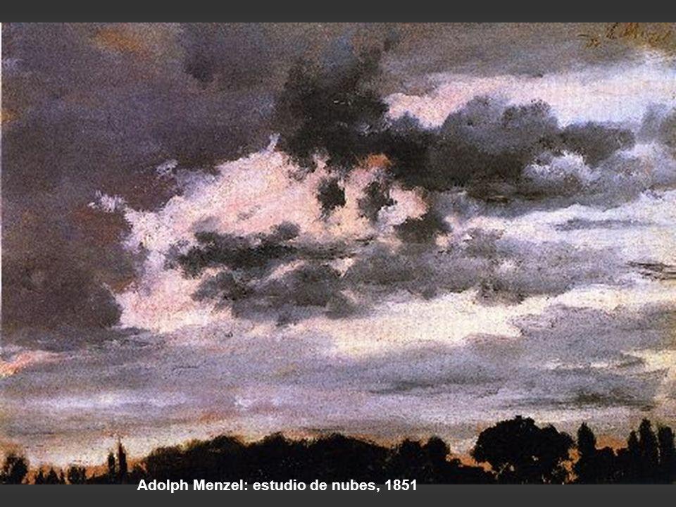 Adolph Menzel: estudio de nubes, 1851