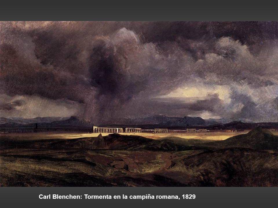 Carl Blenchen: Tormenta en la campiña romana, 1829