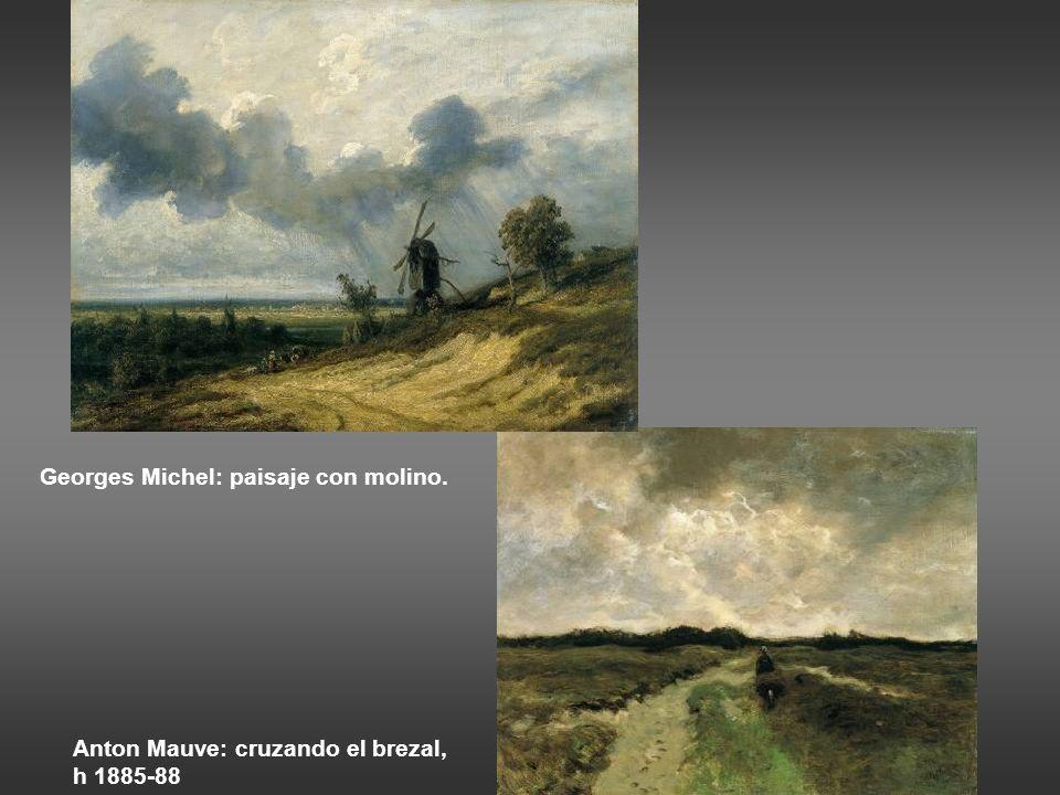 Georges Michel: paisaje con molino.