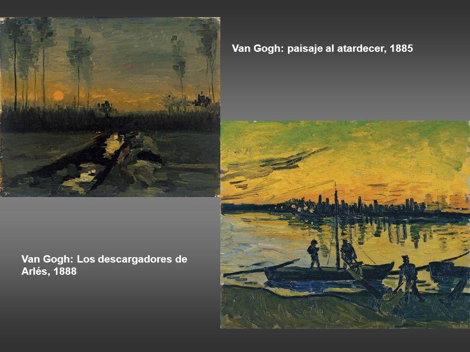 Van Gogh: paisaje al atardecer, 1885