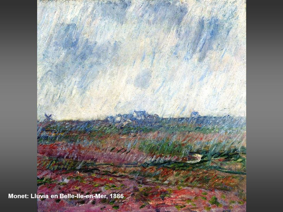 Monet: Lluvia en Belle-Ile-en-Mer, 1886