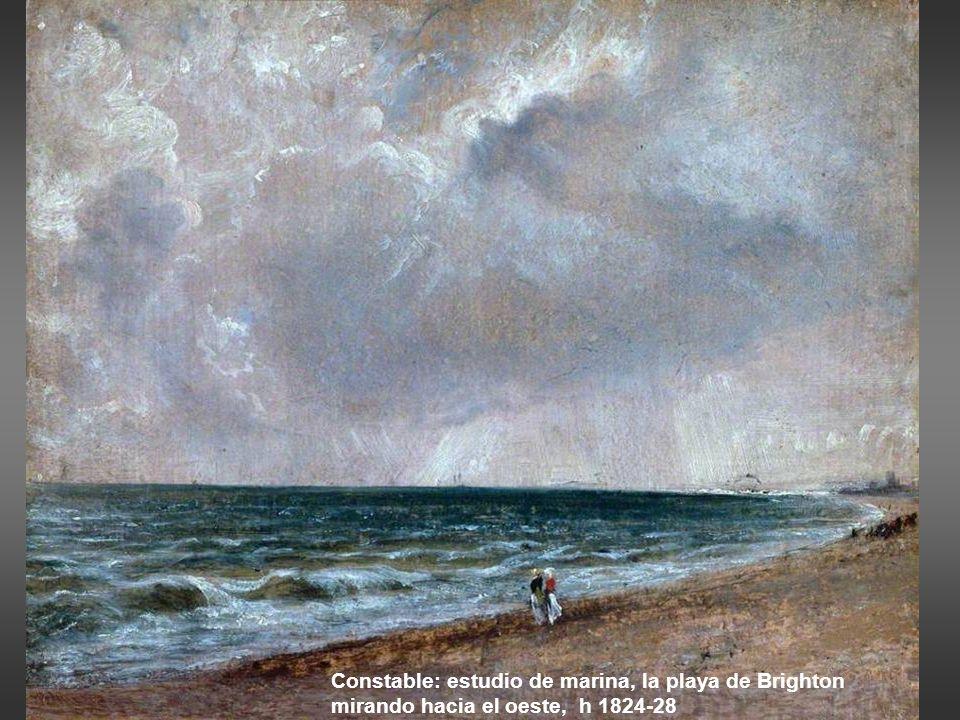 Constable: estudio de marina, la playa de Brighton mirando hacia el oeste, h 1824-28