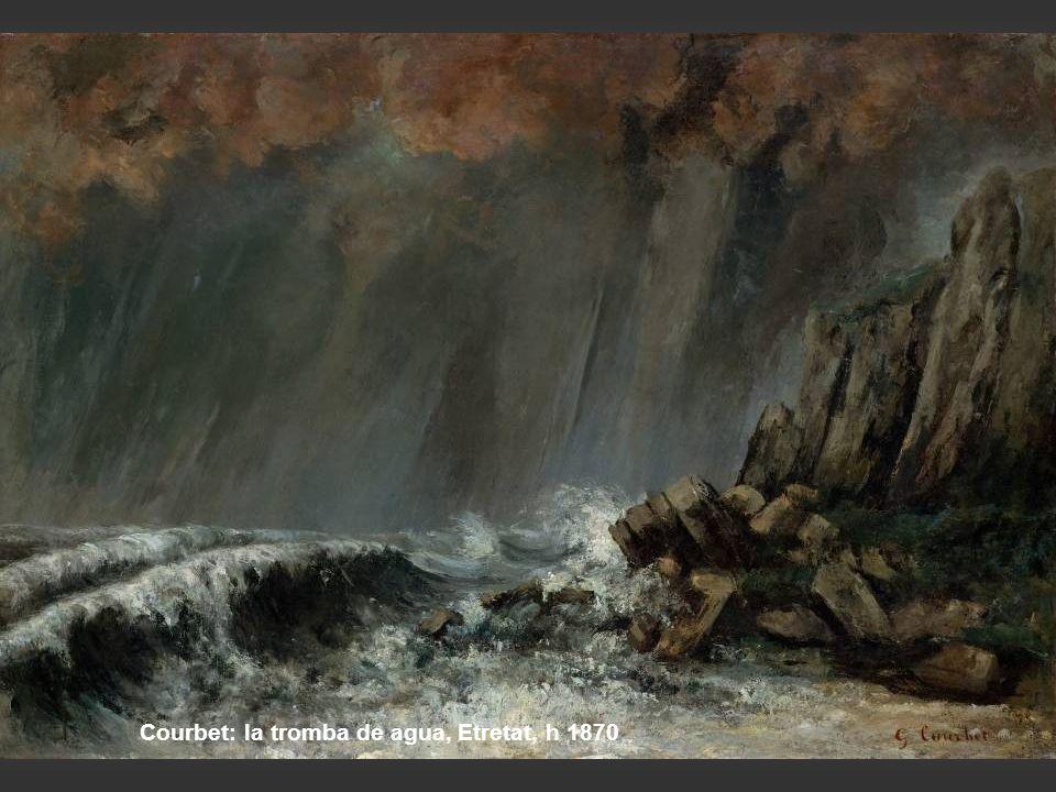 Courbet: la tromba de agua, Etretat, h 1870