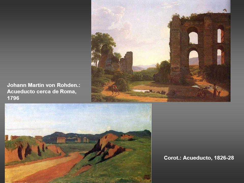 Johann Martin von Rohden.: Acueducto cerca de Roma, 1796