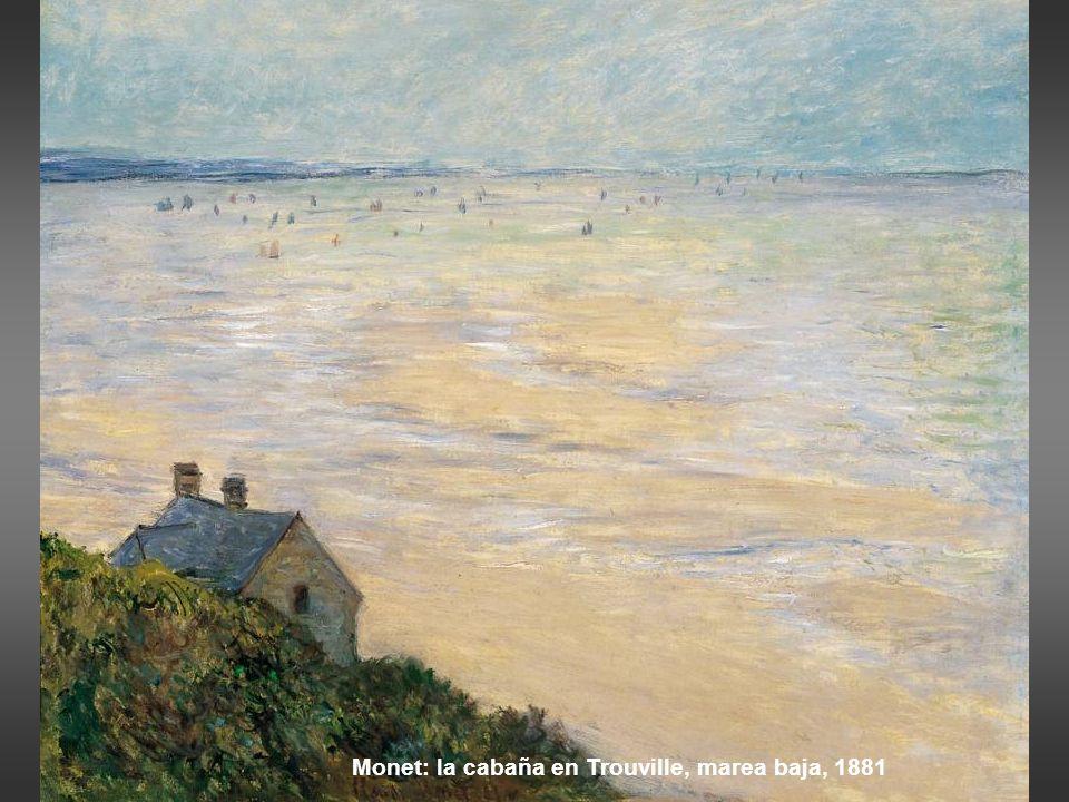 Monet: la cabaña en Trouville, marea baja, 1881